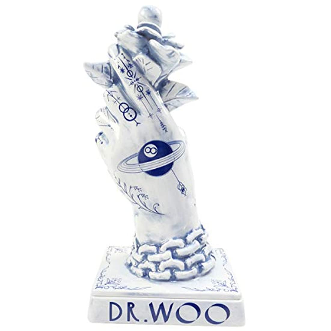 ニックネーム油多様体NEIGHBORHOOD ネイバーフッド 18AW ×Dr Woo BOOZE. DW/CE-INCENSE CHAMBER お香立て 青 フリー
