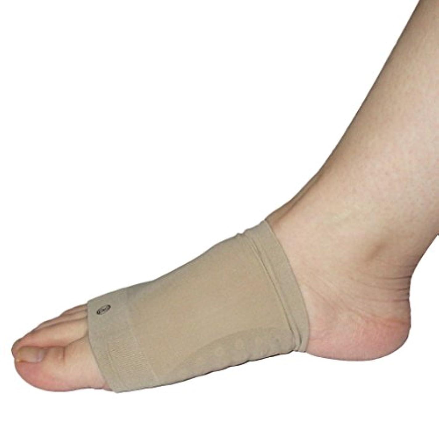 放射能芸術メディア偏平足 サポーター 両足セット 衝撃吸収 足裏 足底 痛み ベージュ フリーサイズ