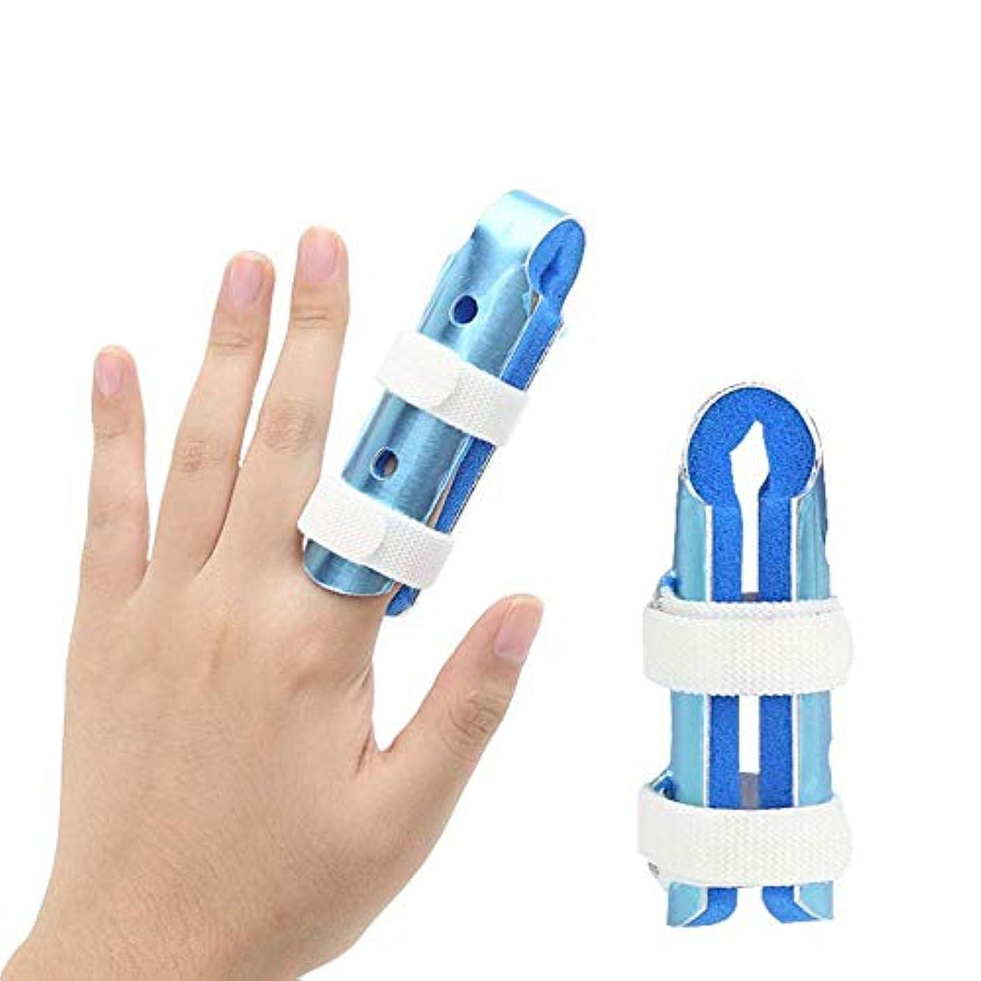 貫通偏見目に見える指の損傷のサポート、トリガーフィンガースプリントの動きフィンガージョイント装具クラッシュプロテクター,8CM