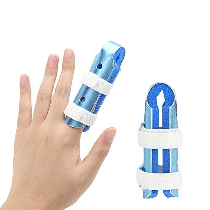 洗う圧縮された学部長指の損傷のサポート、トリガーフィンガースプリントの動きフィンガージョイント装具クラッシュプロテクター,8CM