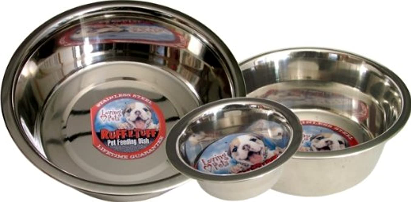フレット酸っぱい衝撃Loving Pets Standard Stainless Dish Dog Bowl, 5-Quart by Loving Pets