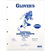 Glovers Scorebooks Football Scoring and Stats Sheets (15 Games)