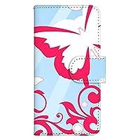 ホワイトナッツ Xperia arc SO-01C スマホケース 手帳型 プリント手帳 パターンF(wn-139) 蝶柄 花 蝶々 ちょうちょ UVプリント 全機種対応