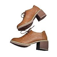 [Yj6x] オックスフォード 歩きやすい オックスフォードシューズ 安定感 レディース 美脚 ブラウン裏起毛 靴 シューズ オックスフォード 走れる マニッシュ 22.5cm おじ靴 オフィスカジュアル フォーマル レースアップシューズ