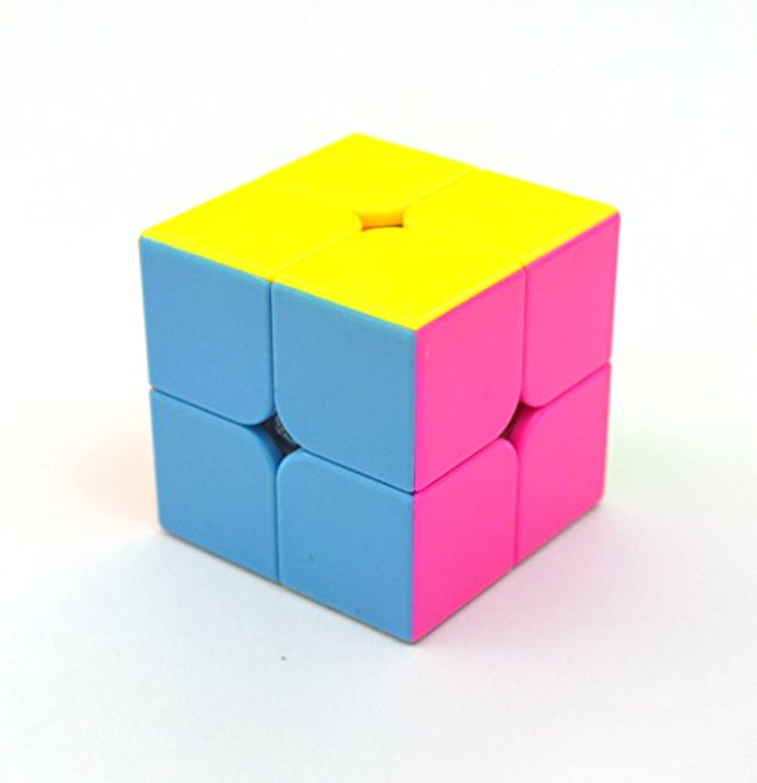Benran スピードキューブ スムーズ回転 競技用 鮮やかな色 ポップ防止 (2×2×2)
