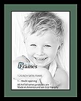 ArtToFrames アルファベット写真画像フレーム  8x10インチ開口部1つ サテンブラックフレーム 1 - 18x24 パープル Double-Multimat-654-865/89-FRBW26079