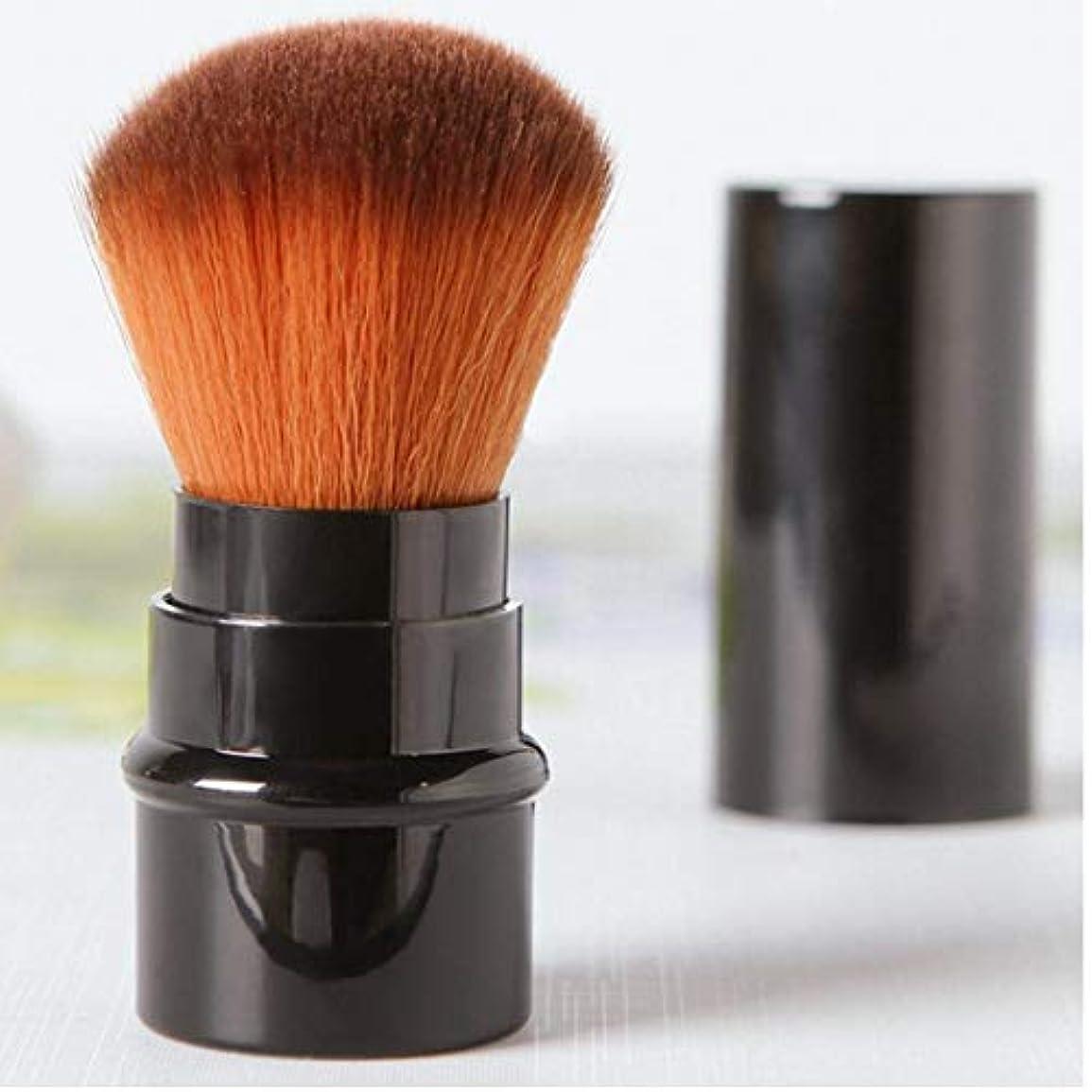 最後に小道具白いブラッシュ、ブロンザー、蛍光ペン用ミニトラベルサイズマルチタスクメイクブラシ(包装色と取り扱い色が異なる場合があります)