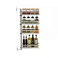 ステンレススチール製のキッチン用具ラック取り外し可能な壁掛け用ラックキッチン用の多彩なシェルフ (サイズ さいず : 4 layers)