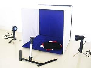 写真撮影テントブース 6点セット ライト付き (撮影キット 撮影ブース 撮影ボックス 写真スタジオ)