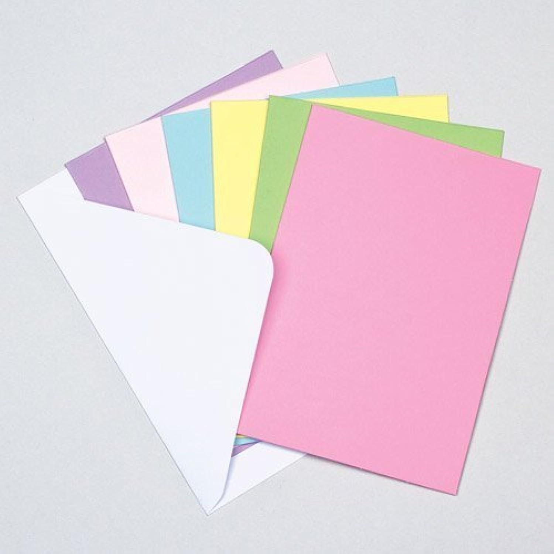 カラー無地カード(12枚入り) 母の日やバレンタインデーの子どもたちの手作りに