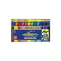 BU00696 乾きまペン太字角芯12色セット紙ケース