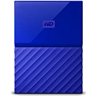WD HDD ポータブル ハードディスク 3TB USB3.0 ブルー 暗号化 パスワード保護 ( PS4 / PS4pro 対応) 3年保証 My Passport WDBYFT0030BBL-WESN