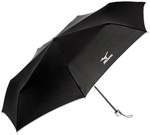 (ミズノ)MIZUNO 大きいサイズの紳士折りたたみ傘 無地×パイピング 21-015-83641-05 15-60 ブラック 60cm