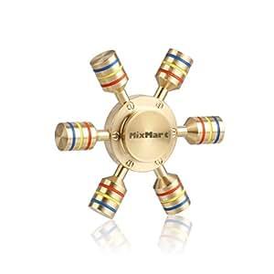 MixMart スピナー 民族 指スピナー フィジェットスピナー 3~5分間 6枚翼 高速回転 ハンドスピナー フォーカス 玩具 精銅 Hand Spinner 指遊び Fidget Spinner 暇つぶし セラミックのボールベアリング