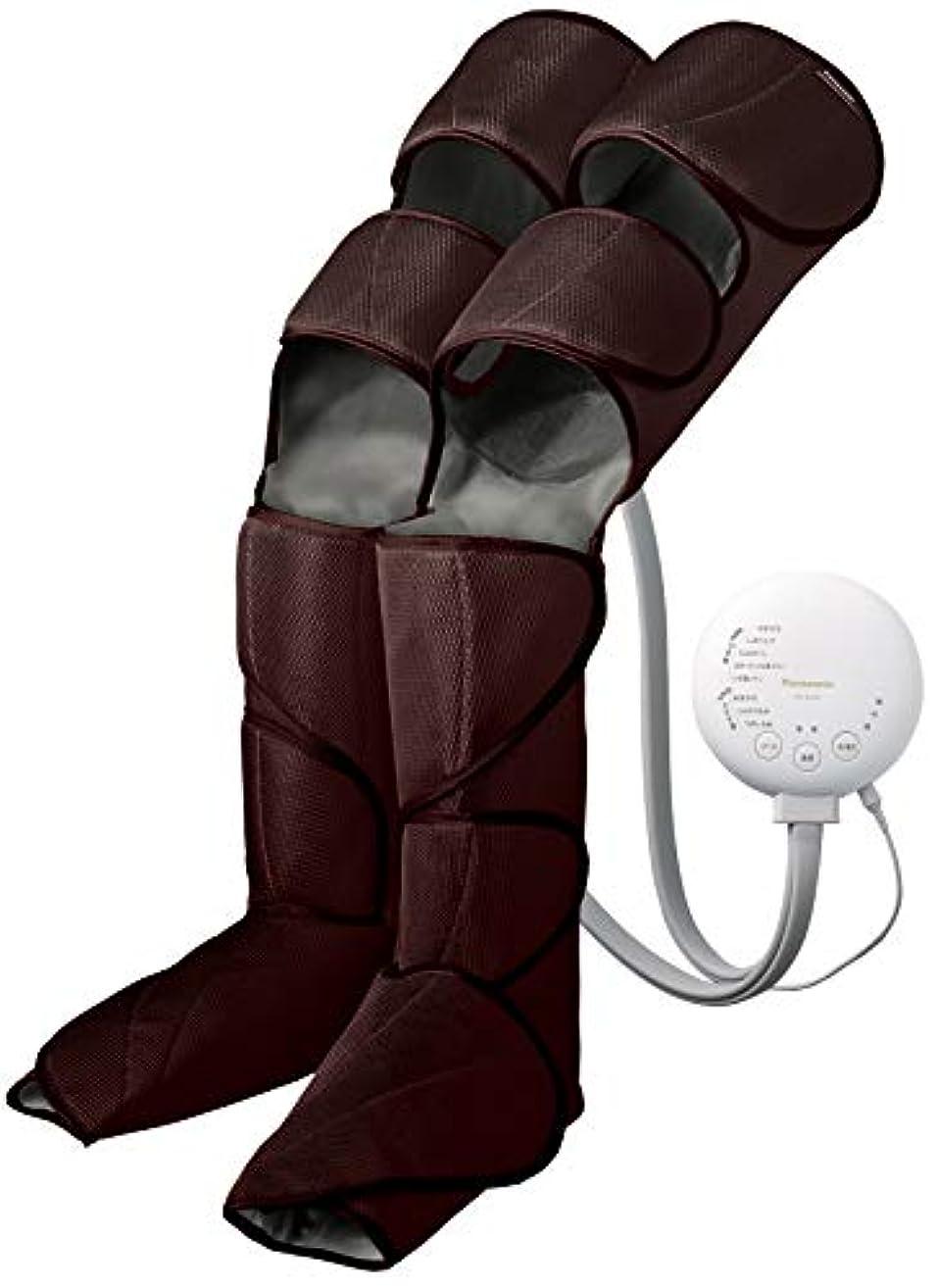 セットアップる掃くパナソニック エアーマッサージャー レッグリフレ ひざ/太もも巻き対応 温感機能搭載 ダークブラウン EW-RA98-T