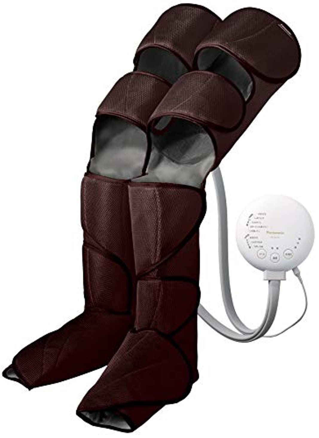検査官刺激するレベルパナソニック エアーマッサージャー レッグリフレ ひざ/太もも巻き対応 温感機能搭載 ダークブラウン EW-RA98-T