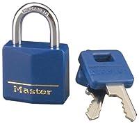 Master Lock 13/16インチ 覆われた真鍮 ブルー 1個