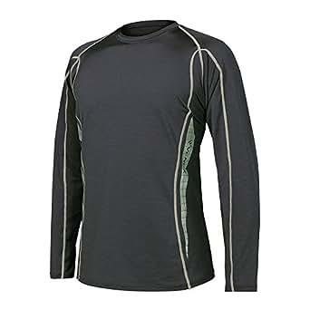 VENEX(ベネクス) リカバリーウェア リチャージロングスリーブ メンズ インナー Tシャツ 長袖 不眠 パジャマ 疲労回復 休養専用 64020422 ブラック M