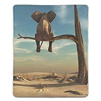 マウスパッド 防塵 耐久性 滑り止め 耐用 ゴム製裏面 軽量 携帯便利 ノートパソコン オフィス用 ゲーム用 (180*220*3mm) 砂漠で面白い象