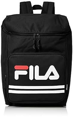 [フィラ] リュック メンズ レディース リュックサック 大容量 スクエアー カジュアル 18l a4サイズ 通学 通勤 旅行バッグ ブランド 軽量 黒 ブラック FM2007 F