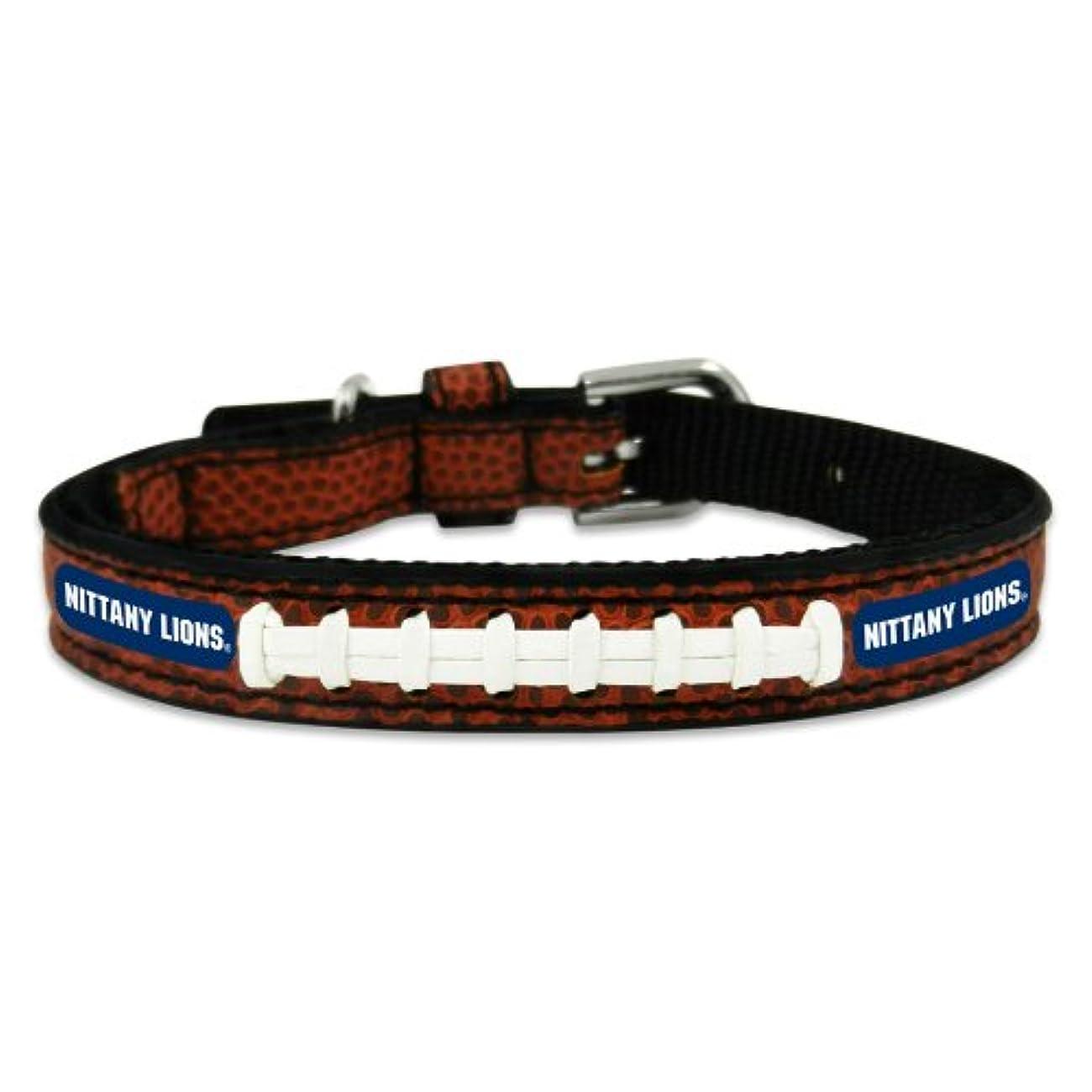 ドリル逃れる傾いたPenn State Nittany Lions Classic Leather Toy Football Collar