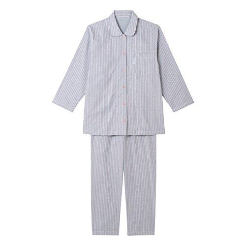 (ワコール)Wacoal 睡眠科学 二重ガーゼ シャツパジャマ 綿100%(GY-グレー、S)