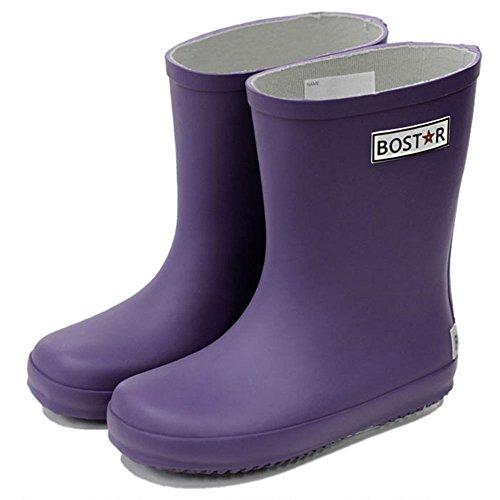キッズ長靴 BOST-R ボストアール 子供用レインブーツ (13cm-23cm) 22cm,パンジー・パープル