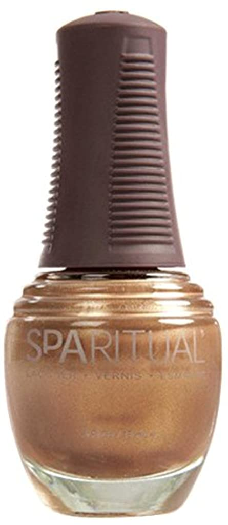 道徳教育演じる中間SpaRitual スパリチュアル ネイルラッカー ゴールド ディガー15ml #80128