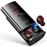 最新Bluetooth5.0+EDR搭載 Bluetooth イヤホン LEDディスプレイ Hi-Fi 高音質 3Dステレオサウンド 6000mAh大容量充電ケース付き 完全ワイヤレス イヤホン 自動ペアリング 両耳 左右分離型 CVCノイズキャンセリング対応 ブルートゥース イヤホン IPX7防水 音量調整 両耳通話 技適認証済/Siri対応/iPhone/iPad/Android対応