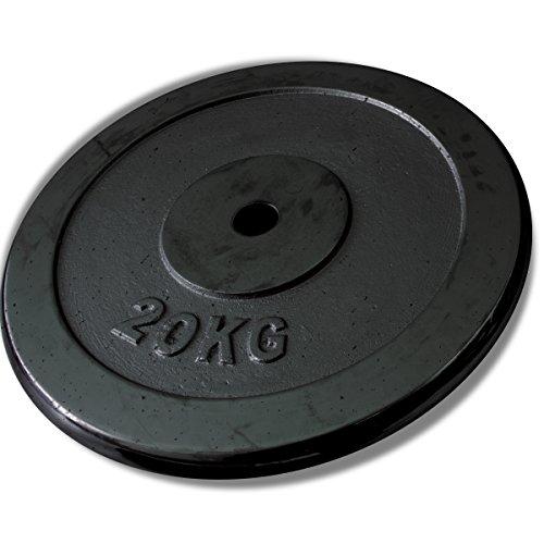 FIELDOOR ダンベルプレート 20kg 1個 (FIELDOOR ダンベル / バーベル 専用オプション)