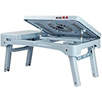 DS- ノートブッククーラー ラップトップテーブル、ベッドのためのシンプルなテーブル、怠惰なデスク、折り畳み式コーナーシンプルな小さなテーブル、プラスチックラップトップテーブル、ブルーカラーラップトップテーブル、53cm * 37.5cm * 27.5cm &&