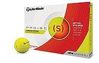 TaylorMade 2018 Project (s) テーラーメイド2018プロジェクトゴルフボール(1ダース) マットイエロー [並行輸入品]
