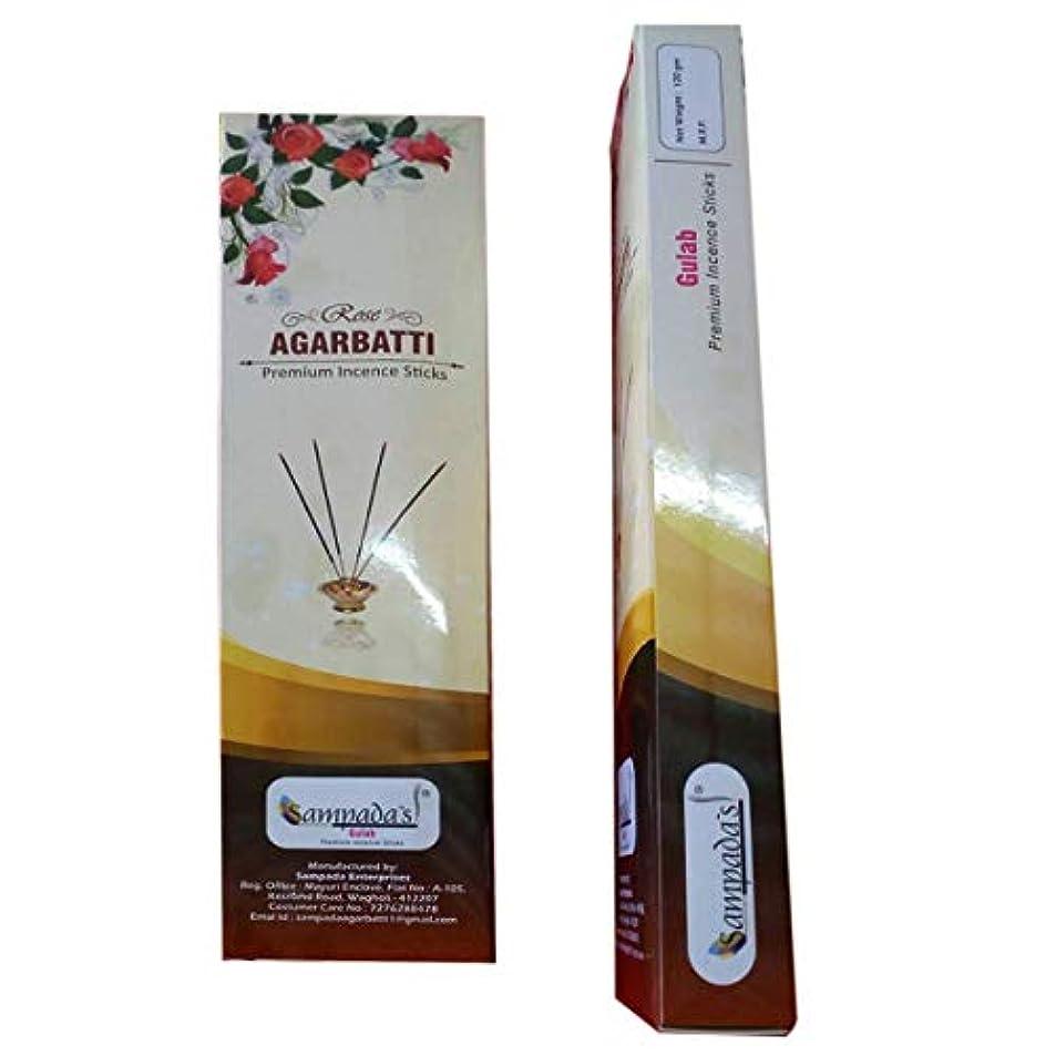 人種タバコ塗抹Sampada Gulab Agarbatti 90 Sticks Pack of 6