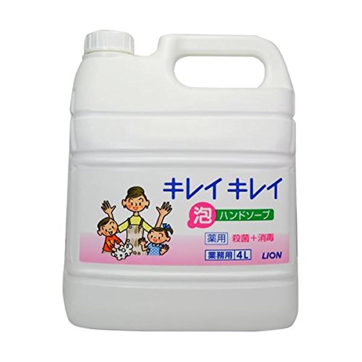 ナチュラル石灰岩キャンペーンキレイキレイ薬用泡ハンドソープ 4Lボトル×2個+専用泡容器700mLセット