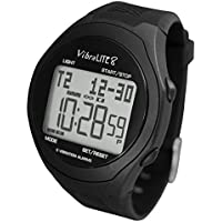 VibraLITE 8 - black silicone band - Vibrating Alarm Reminder Watch - TabTimer TTW-VL8F-SBK