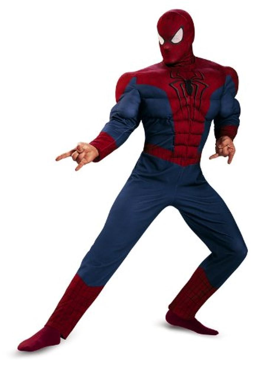 日記庭園栄光Spider-Man Movie 2 Muscle Adult Plus Costume スパイダーマンムービー2マッスル大人用プラスコスチューム?ハロウィン?サイズ:Plus (50-52)