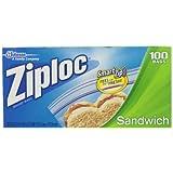 Ziploc Sandwich Bag Value Pack, 100ct