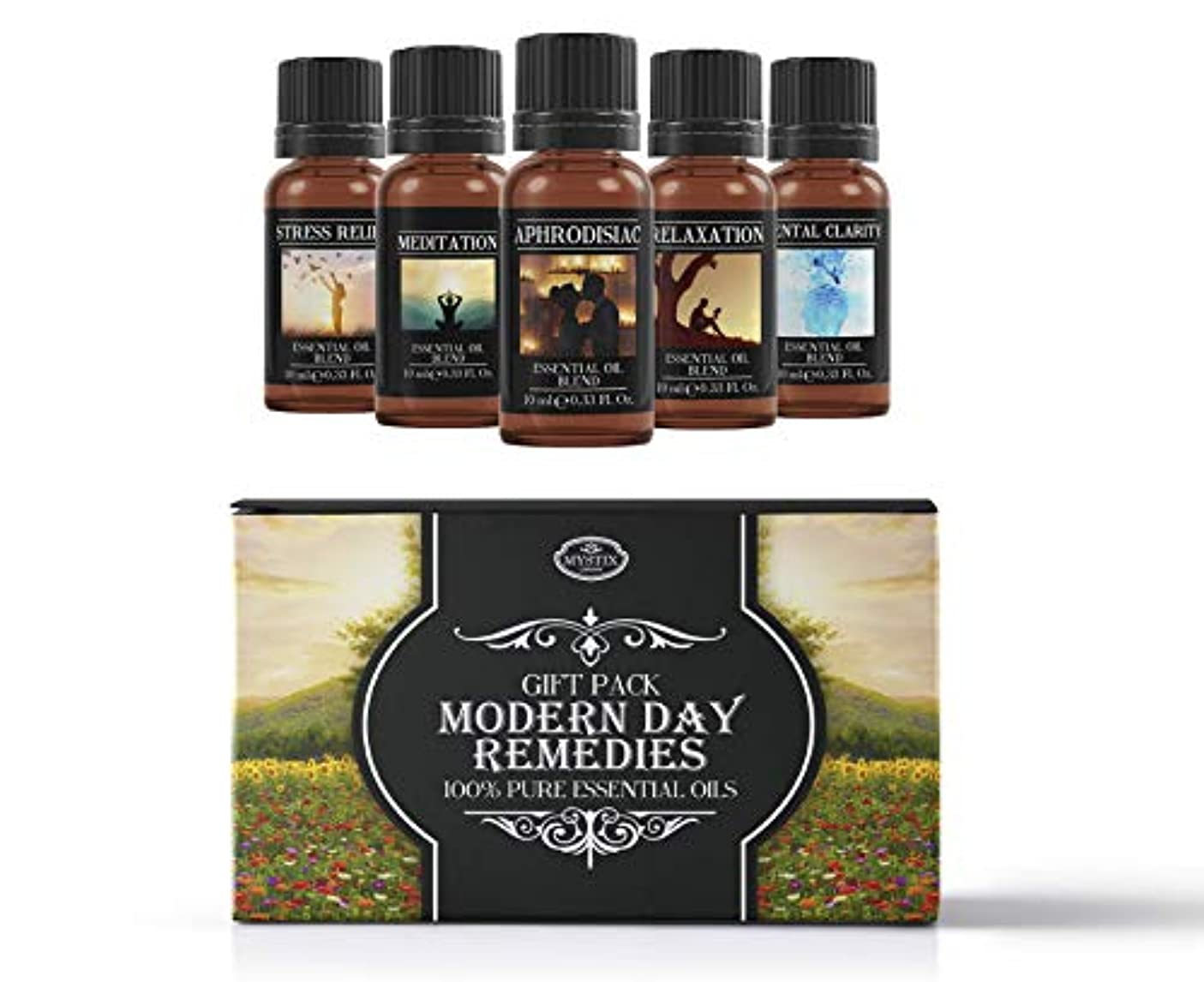 安心させる推測するオンModern Day Remedies | Essential Oil Blend Gift Pack | Aphrodisiac, Meditation, Mental Clarity, Stress Relief,...