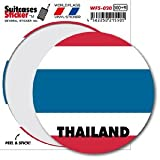 WFS-020 THAILAND タイ 国旗ステッカー サークル スーツケースステッカー