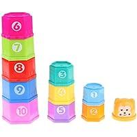 Baoblaze 11個 スタッキングカップおもちゃ 虹カップ塔 カップタワー 男の子 女の子 バスタイムおもちゃ プレゼント