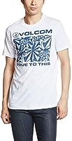 (ボルコム)VOLCOM ストーン ロゴプリント 半袖Tシャツ JAPAN FITシリーズ  【 TTT Stoniness S/S Tee 】 A35116JD A35116JD WNV WNV_ホワイト×ネイビー L
