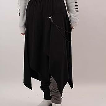 アルゴンキン/ALGONQUINS アシメスカートフラップ付きレギパン (グレイ×クロ)
