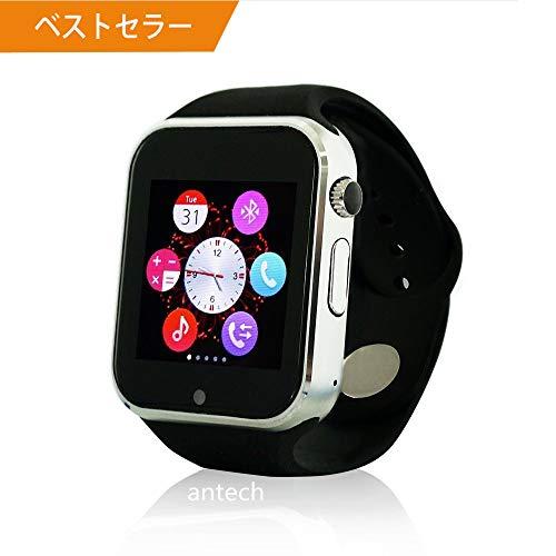 【最新版】Jpantech A1 スマートウォッチ Bluetooth搭載 多機能腕時計 スマートデ...