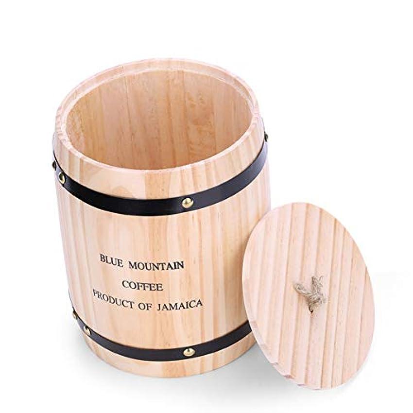 若いスマッシュ調べるコーヒー豆貯蔵タンクウッド香バレルコーヒーショップ装飾コンテナ