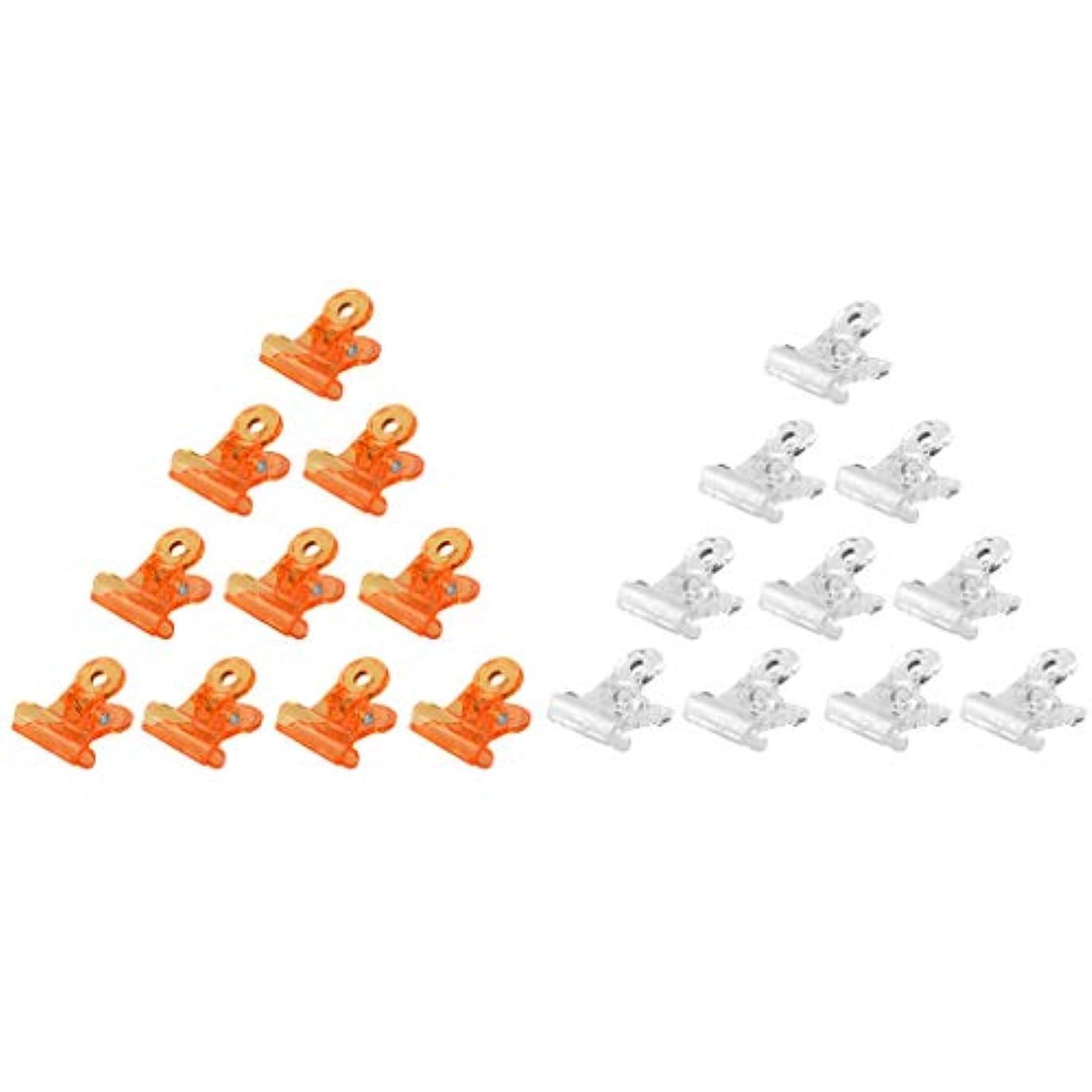 溶かす個人サイレンT TOOYFUL ネイルポリッシュ リムーバークリップ アクリル ネイルクリップ ネイルケアツール 全3種 - オレンジ+クリア
