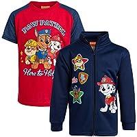 Nickelodeon Paw Patrol Boys Full Zip Fleece Sweatshirt and T-Shirt 2-Piece Set (Toddler/Little Boys)