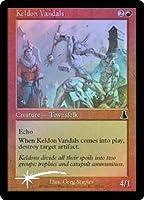 英語版フォイル ウルザズ・デステニー Urza's Destiny UDS ケルドの蛮人 Keldon Vandals マジック・ザ・ギャザリング mtg