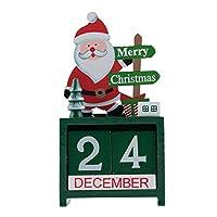 YINASI クリエイティブ クリスマス カレンダー 木製キューブ 毎日のパーペチュアル デスクトップ ホーム オフィス リビングルーム デコレーション