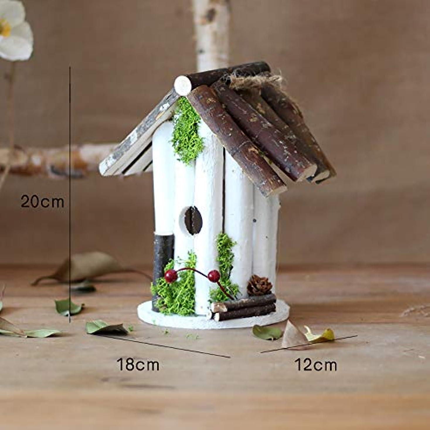 受信コードレスシャーロットブロンテ野鳥の巣箱 小さな鳥自然Ventilatioのための木製の外ハンギングバードハウス 屋外 庭の装飾 (Color : B, Size : Free size)