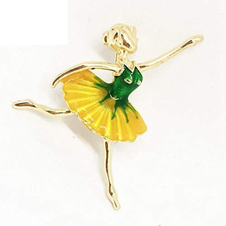 Dixinla ブローチ 精巧な体操 女の子 バレエ ダンシングガール エナメルオイル 合金